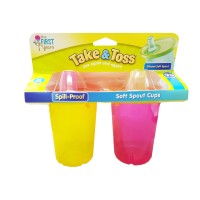THE FIRST YEARS Take And Toss 10oz Soft Spout Cups -2pk