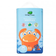 LITTLE TREE Eco-Friendly Nappies, Monster ABM50 (50pcs)