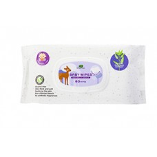 LITTLE TREE Baby Wipes (80 Wipes, General Use)