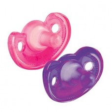 THE FIRST YEARS Gumdrop Infant Pacifier 2Pk, Pink/Purple