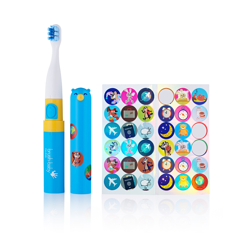Brush Baby Go Kidz - Electric Travel Toothbrush - Blue